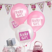 Little Owls Pink And White Baby Girl Balloons (8)